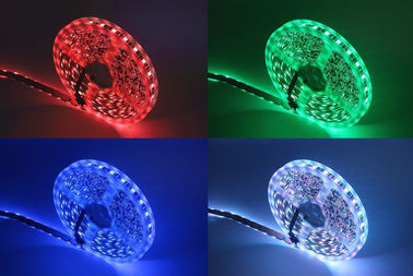 China DC 12V LED Strip Light SMD 5050 , RGB Flexible LED Strip Outdoor Decoration supplier