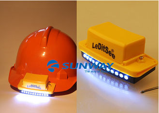 China Wireless LED Helmet Light 3 Light Modes Durable With 9V Battery Powered supplier