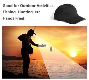 China Hands Free LED Lighted Cap Great Distance Visibility Unisex Sport Hat 0.5W Power factory